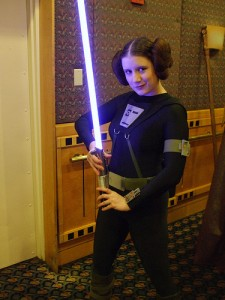 The Rebel Legion's Darth Mitsy as Princess Leia from Splinter of the Mind's Eye.