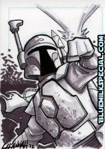 Leanne Hannah Star Wars sketch cards