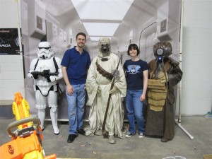 Rod and Leanne Hannah pose with Garrison Carida 501st Legion